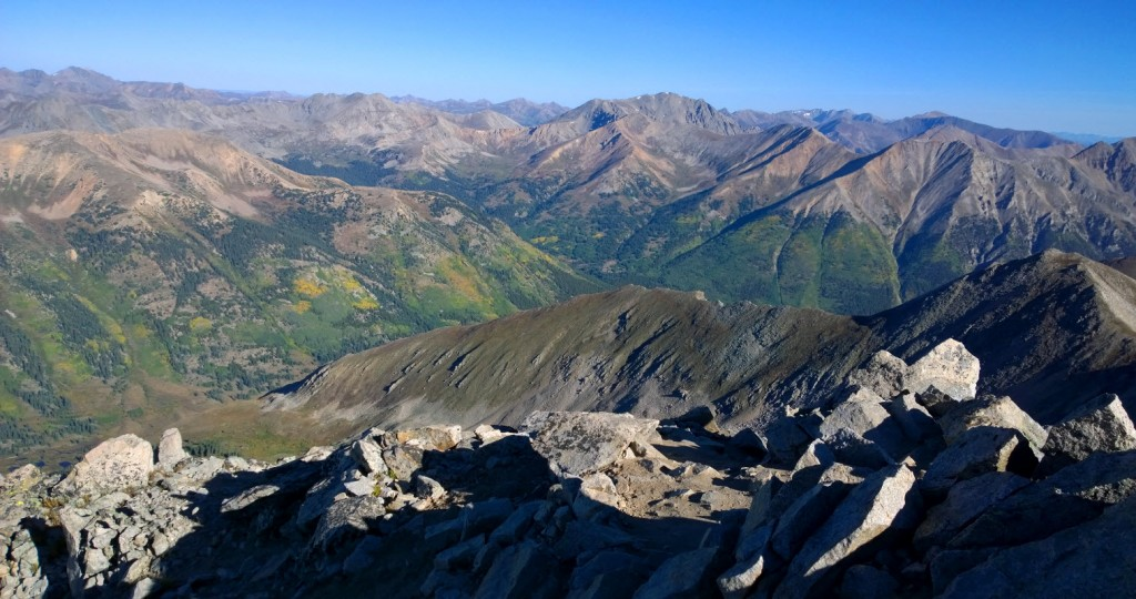 View north from Huron summit