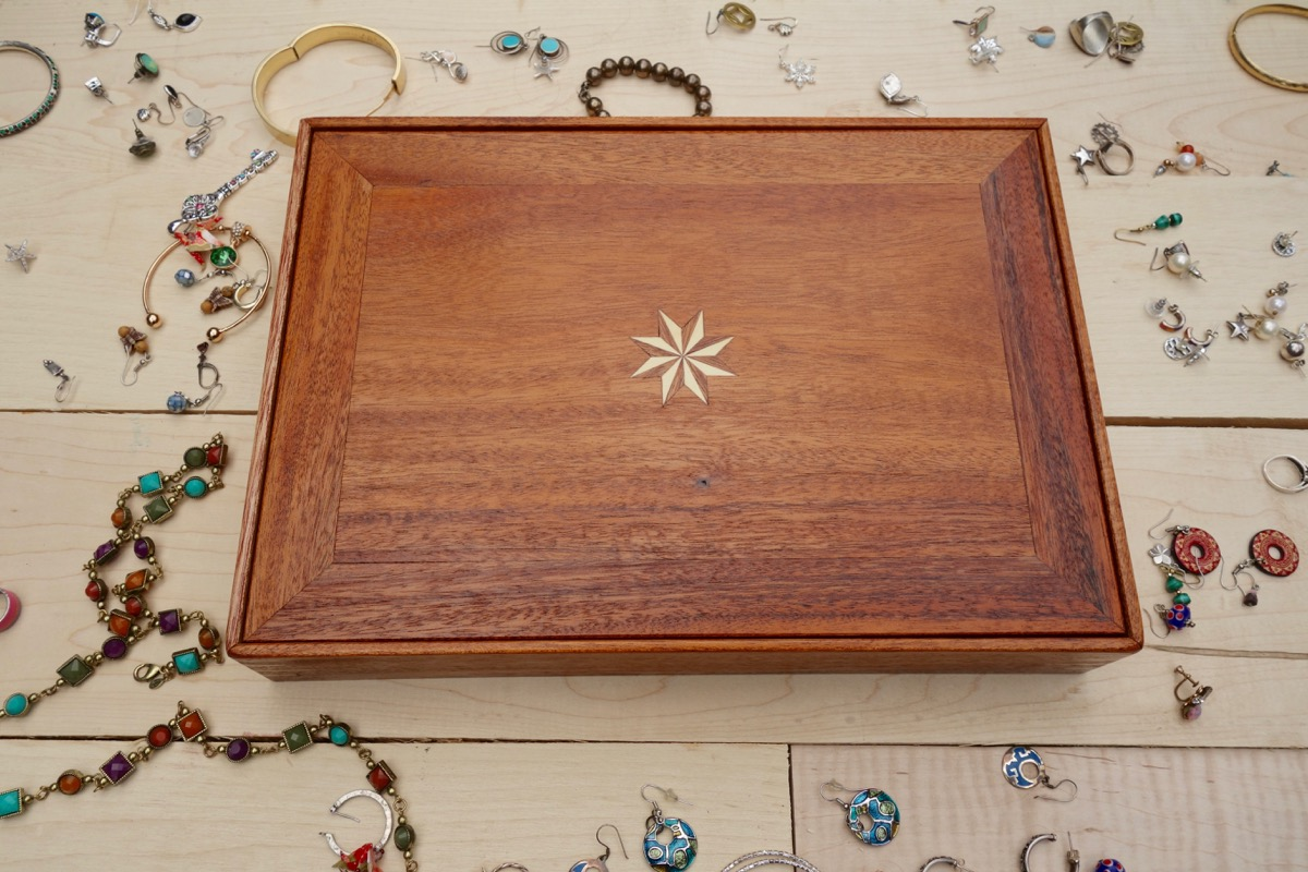Large Mahogany Jewelry Box